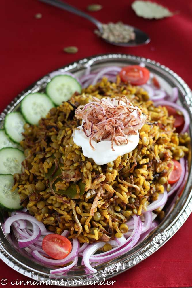 Mujaddara Arabic Lentil And Rice Pilaf