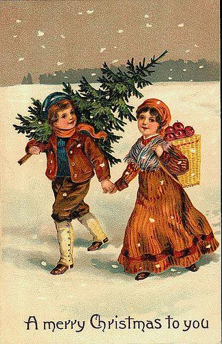 Immagini Vintage Natale.Cartoline Natale Vintage Babbi Natale Vintage Biglietto Natalizio Cartoline Di Natale