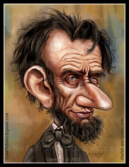 Abraham Lincoln Caricatures Pinterest Caricature Celebrity