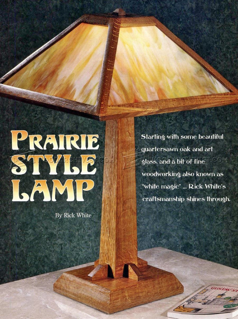 #2814 Prairie Table Lamp Plans   Woodworking Plans · Craftsman Style ...
