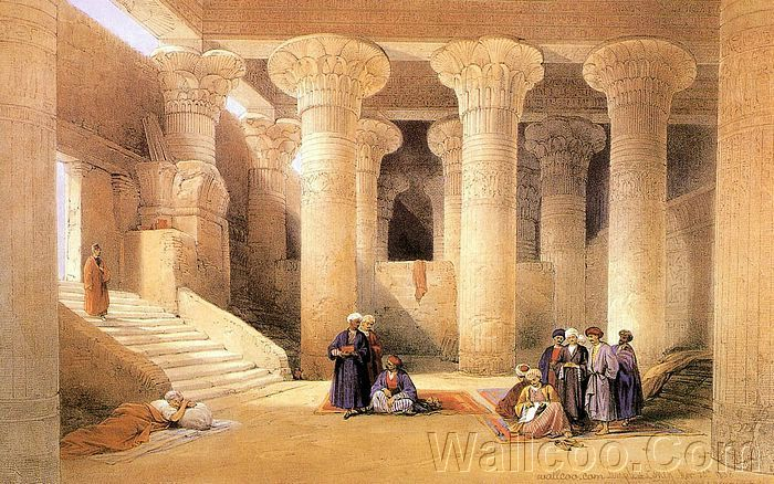 David roberts paintings the ancient egypt ancient for Home wallpaper egypt
