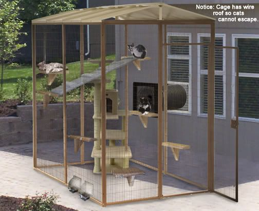 Build wooden cat house designs outdoor plans download for Outside designs of houses