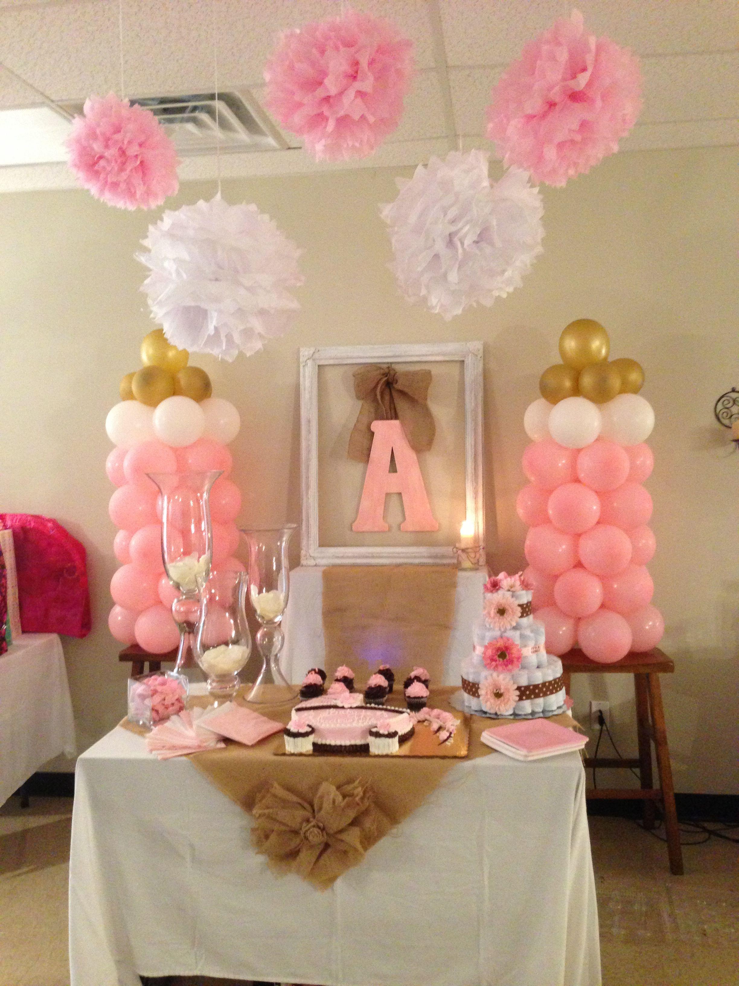 Girl baby shower decorations id es d co anniversaire - Idee repas pour recevoir ...
