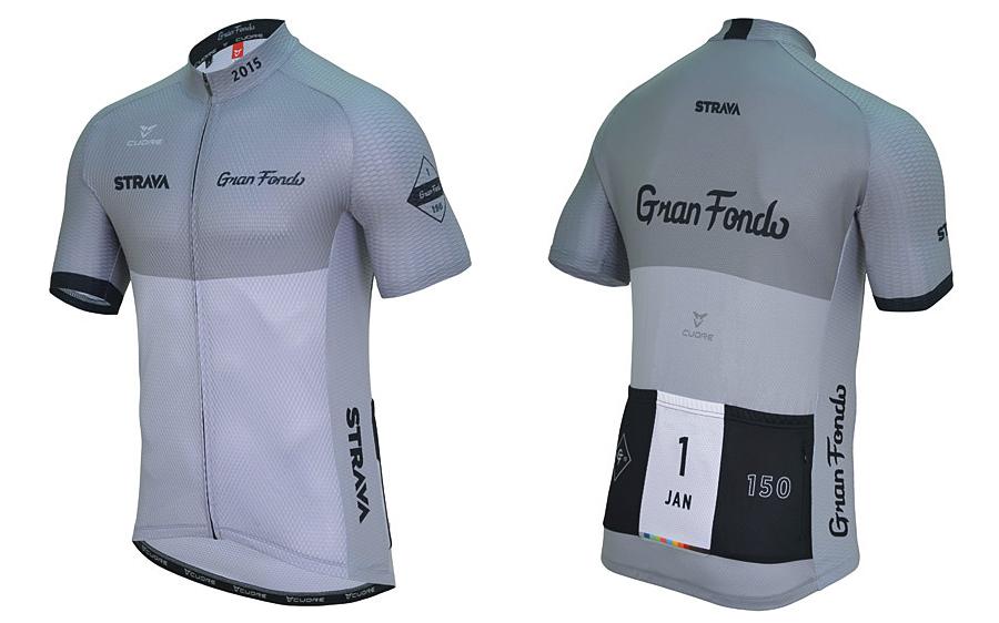 Strava January 2015 Gran Fondo 150 Challenge Jersey  c9265dcde