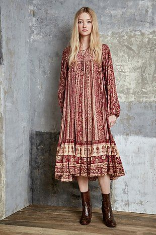 One Of A Kind Indisches Vintage Baumwollkleid Im 70er Stil