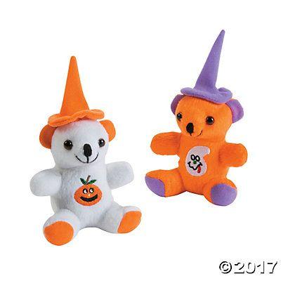 plush halloween bears