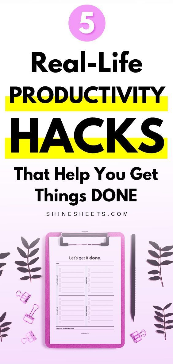5 RealLife Productivity Hacks That Help You Get Things DONE When tasks are piling up you might find yourself desperate for something that could make you more productive a...