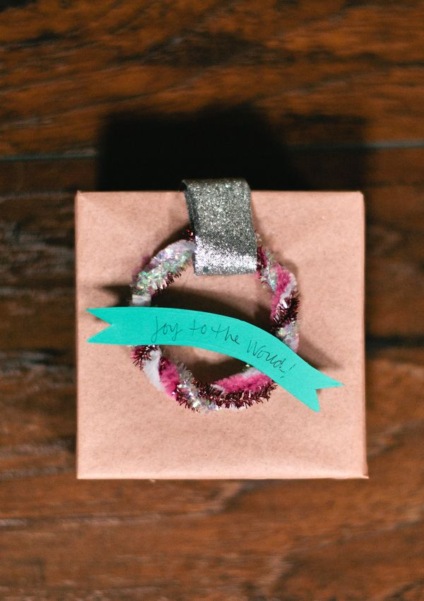 "createforless: ""Wreath Wrapped Gifts via A Subtle Revelry "" Love these little wreath gift toppers!"