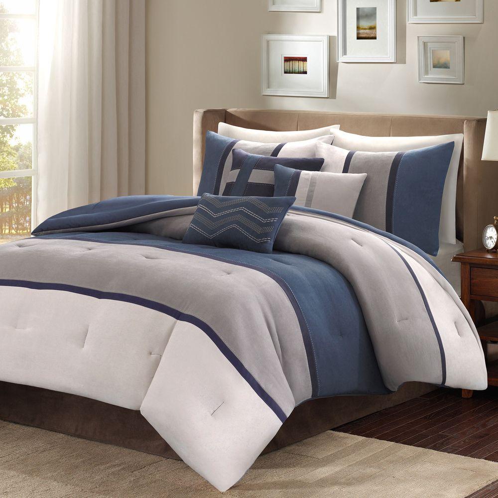 Madison Park Hanover 7 Piece Comforter Set Queen Design