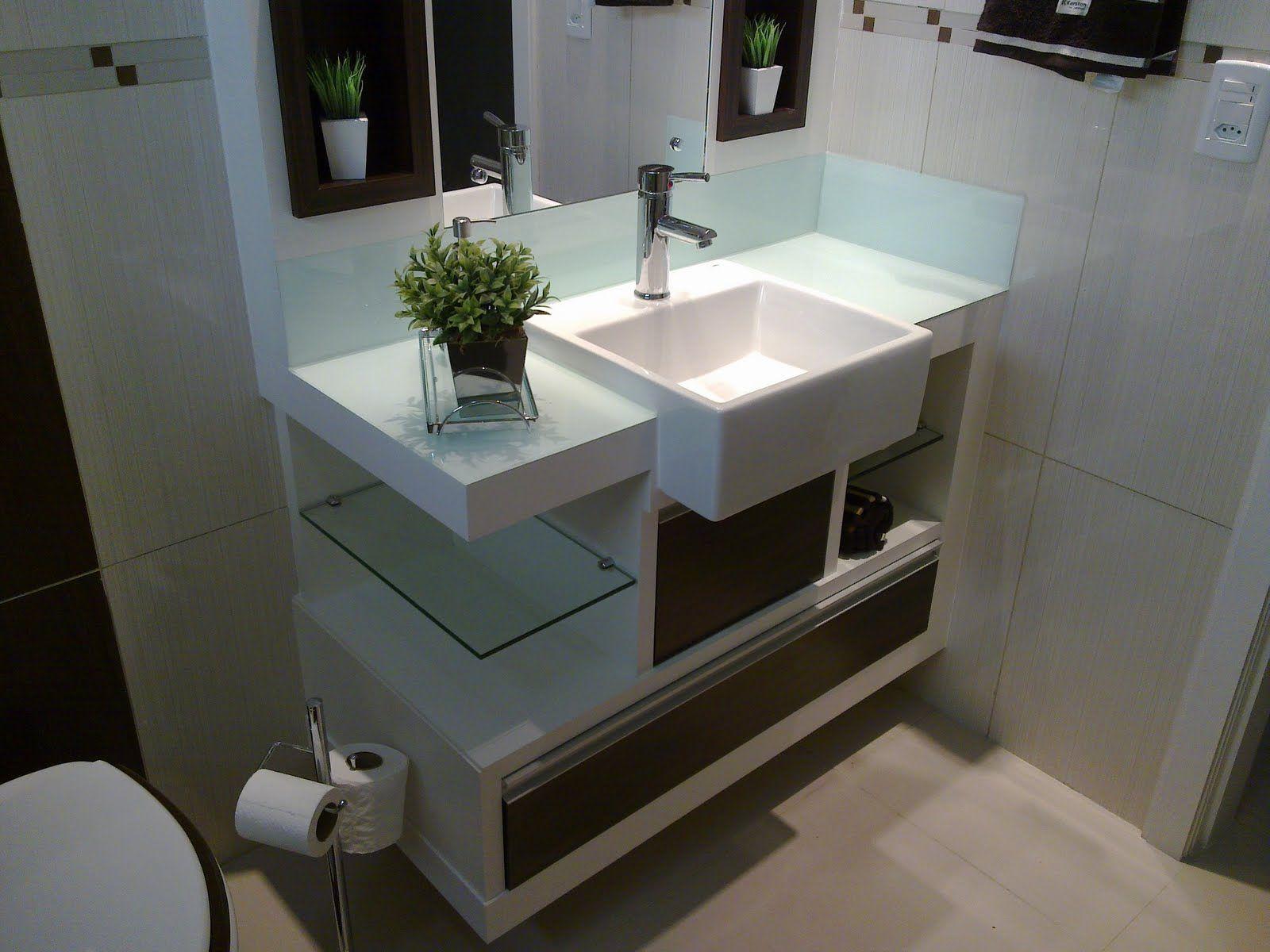 armario de banheiro pequeno planejado  Pesquisa Google  Banheiros  Pintere -> Banheiro Pequeno Gabinete
