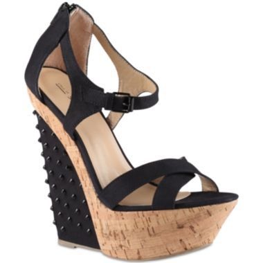 Adamusova Studded-Wedge Sandals