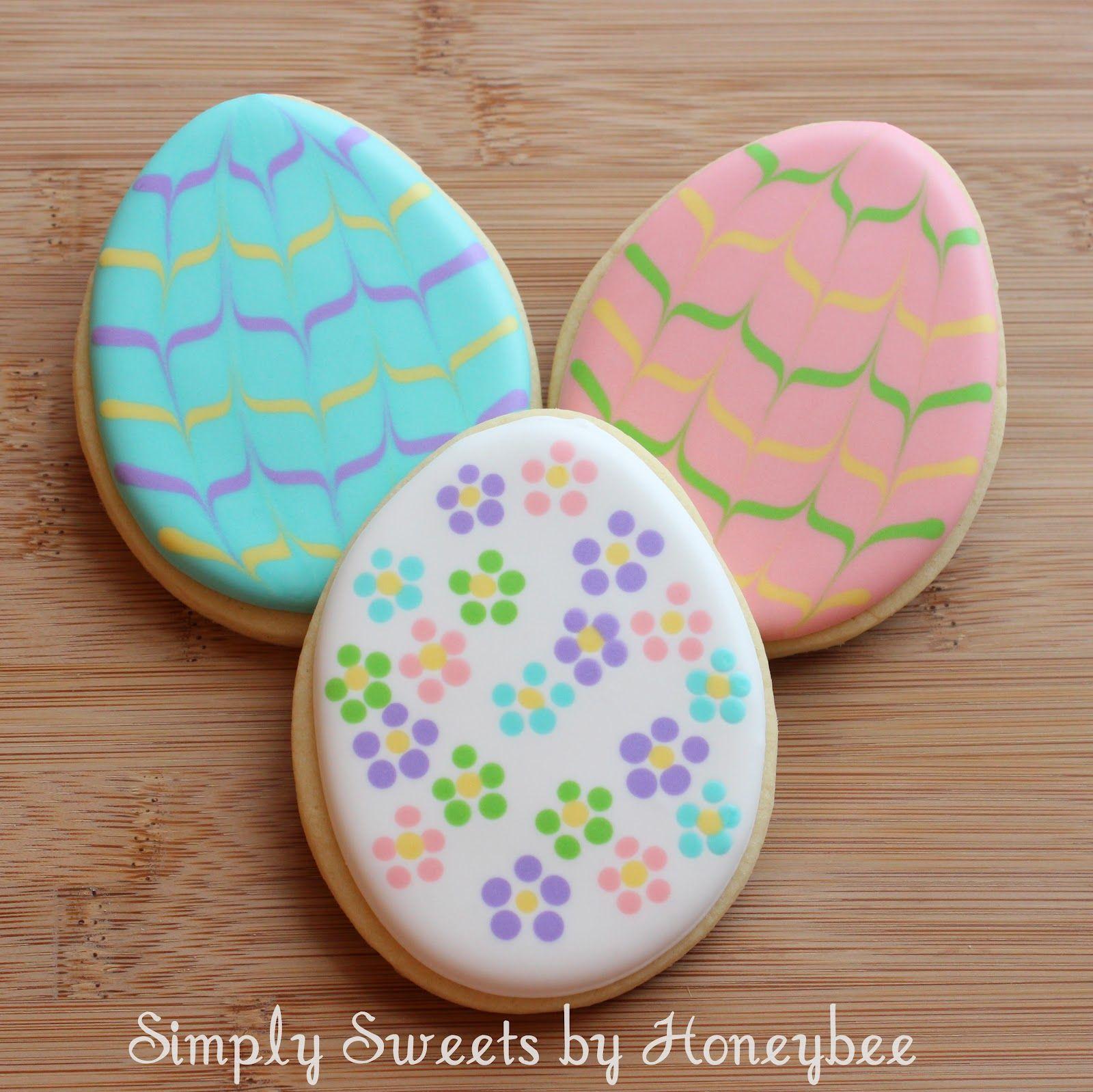 Easter Eggs & Sheep Cookies - simplysweetsbyhoneybee.com