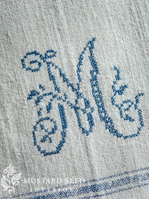 miss mustard seed | cross-stitching on linen