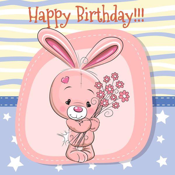 Download Cute Happy Birthday Baby Card Vectors 02 In Eps