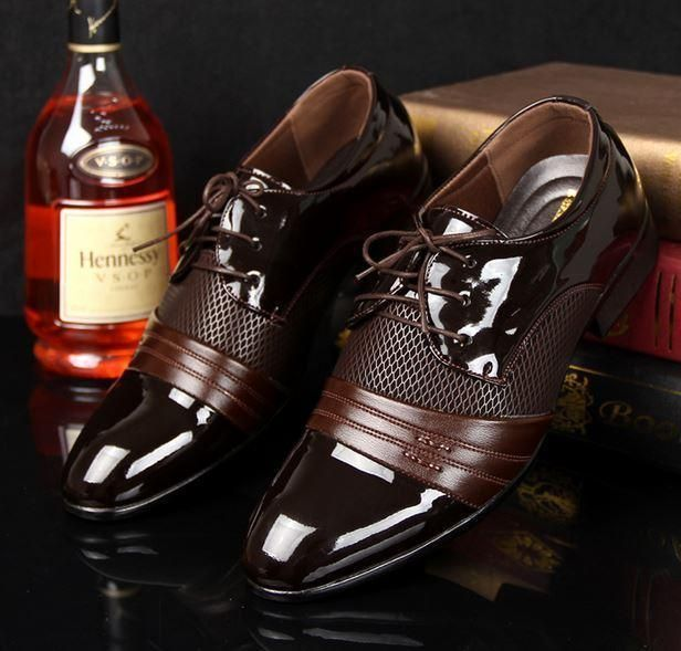 fb3e4e850a59af Stylish Mens Casual lace up wedding Oxford Dress formal Shoes black brown  new in Clothing, Shoes & Accessories, Men's Shoes, Dress/Formal | eBay