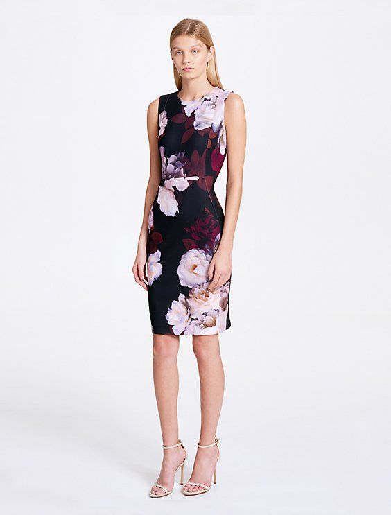 98c41ee563ac Image for floral print sheath dress from Calvin Klein | Professional ...