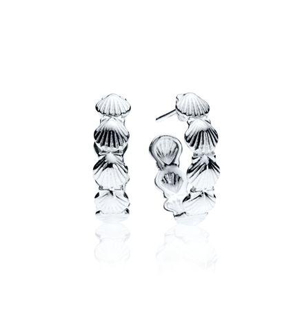 CBStark Jewelers - Scallop Shell Hoop earrings in sterling silver, $95.00 (http://www.cbstark.com/jewelry/scallop-shell-hoop-earrings-in-sterling-silver/)