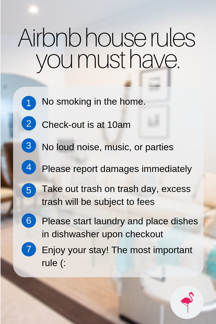 Airbnb House Rules You Must Have Airbnb House Rules Airbnb House House Rental