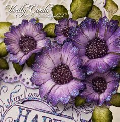 Verity Cards: Flower Making Tutorial