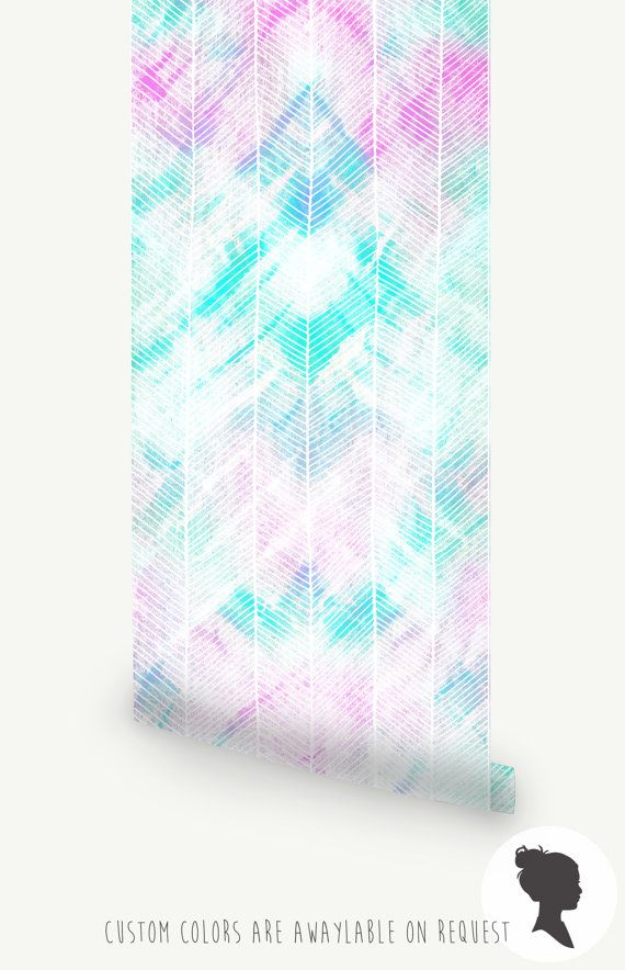 Wandbild Aquarell Muster. Abnehmbare Tapete selbst von Livettes