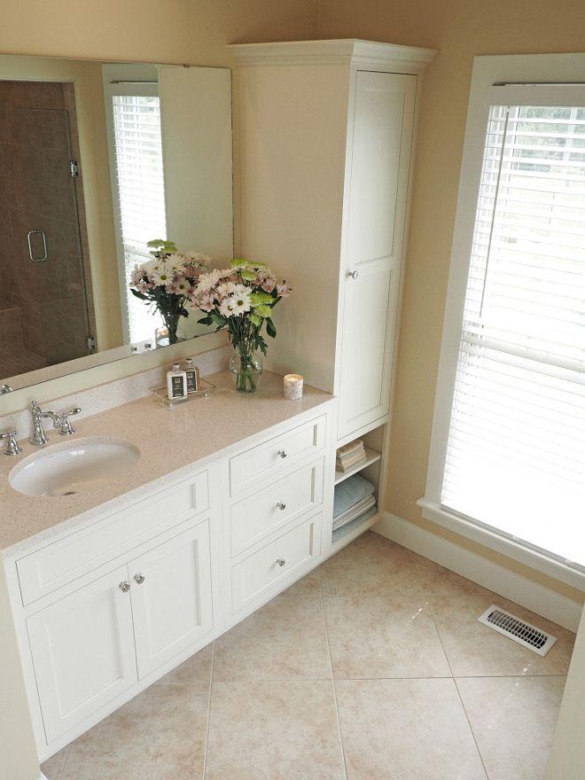 Bathroom Quartz Countertop. Vanity For U201cheru201d With Cambria, Cardiff Cream  Countertops.