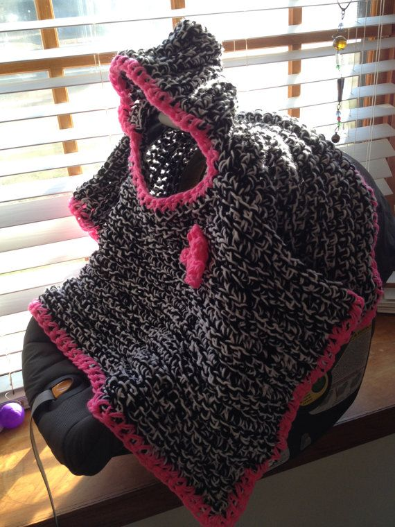 Hooded Car Seat Blanket Baby Infant Hood Poncho Newborn Digital