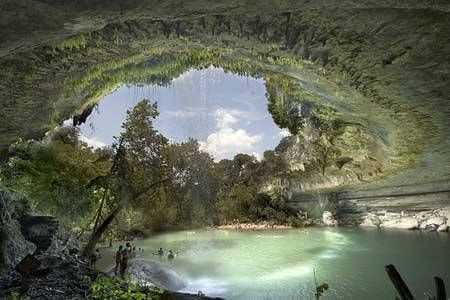 Hamilton Pool Preserve Is A Natural That Was Created When The Dome Of An Underground