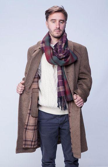 Winter coat, merino wool coat, mens trench coat, classic formal coat, long overcoat, winter jacket, 1980s