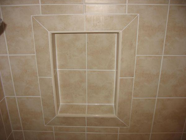 Mitered Tiles Around Niche