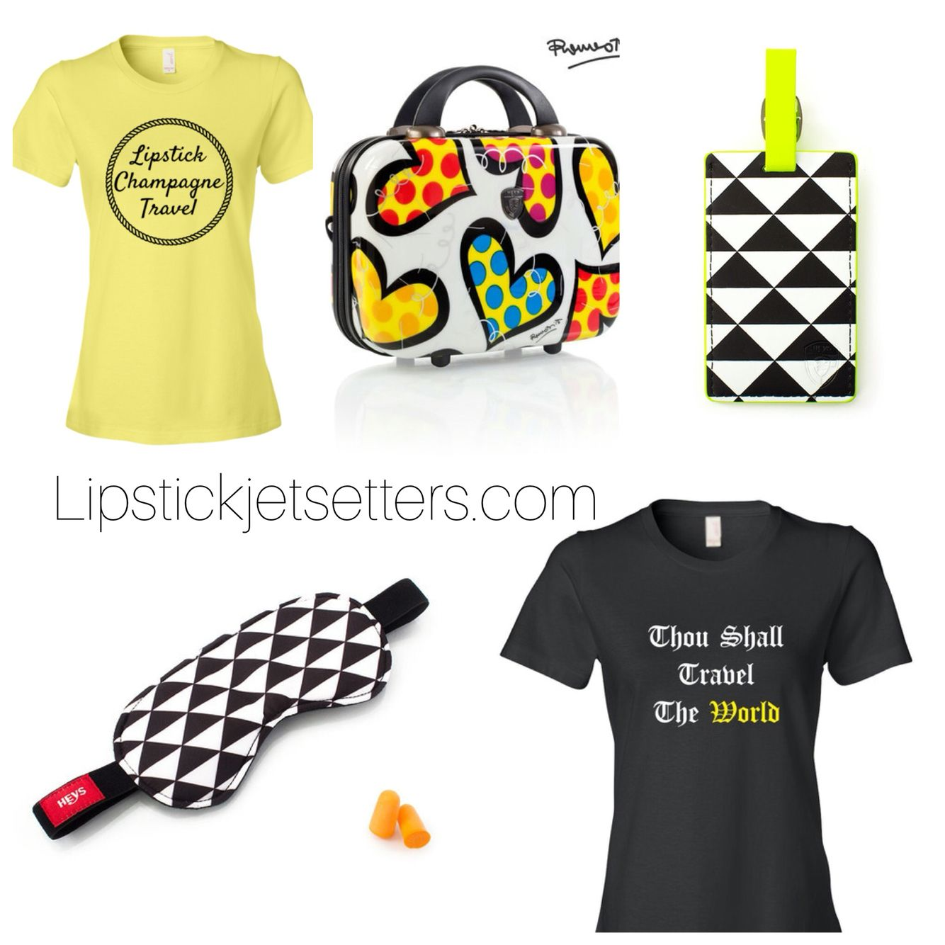 Thou shall travel the world t-shirt. Lipstick, champagne, and travel t-shirt. Travel in style with Lipstick Jetsetters.