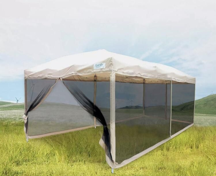 10x20 Tan Tent With Mesh Walls Canopy Tent Outdoor Tent Canopy Tent