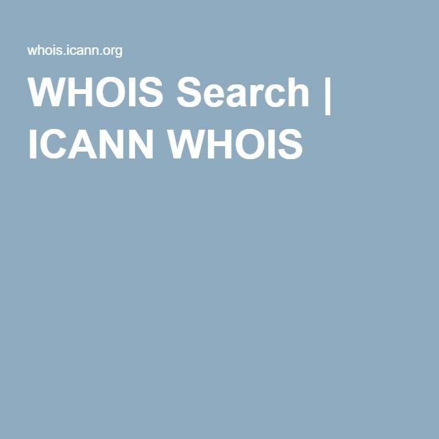 WHOIS Search | ICANN WHOIS | Business | Logos, iOS