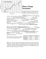 Phase Change Worksheet Answers Key - worksheet