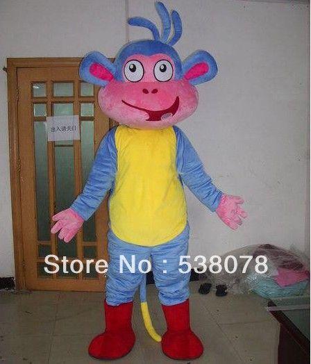 Monkey Boots Mascot Costume Dora The Explorer Monkey Boots