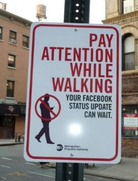 Your Facebook status can wait! Pay attention to who or what really needs your attention...