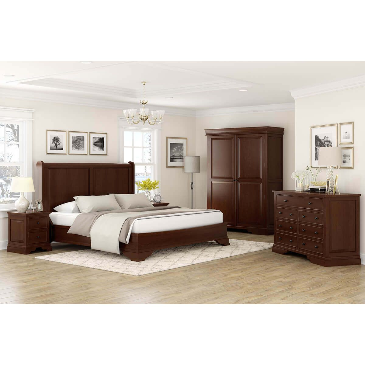 Accoville Mahogany Traditional 5 Piece Bedroom Set Full Size Bedroom Sets 5 Piece Bedroom Set Bedroom Set