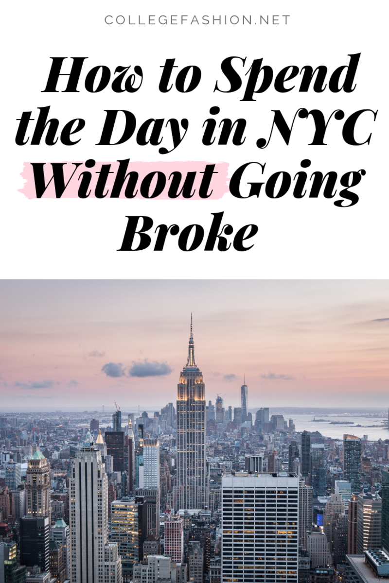How To Spend The Day In NYC Without Going Broke