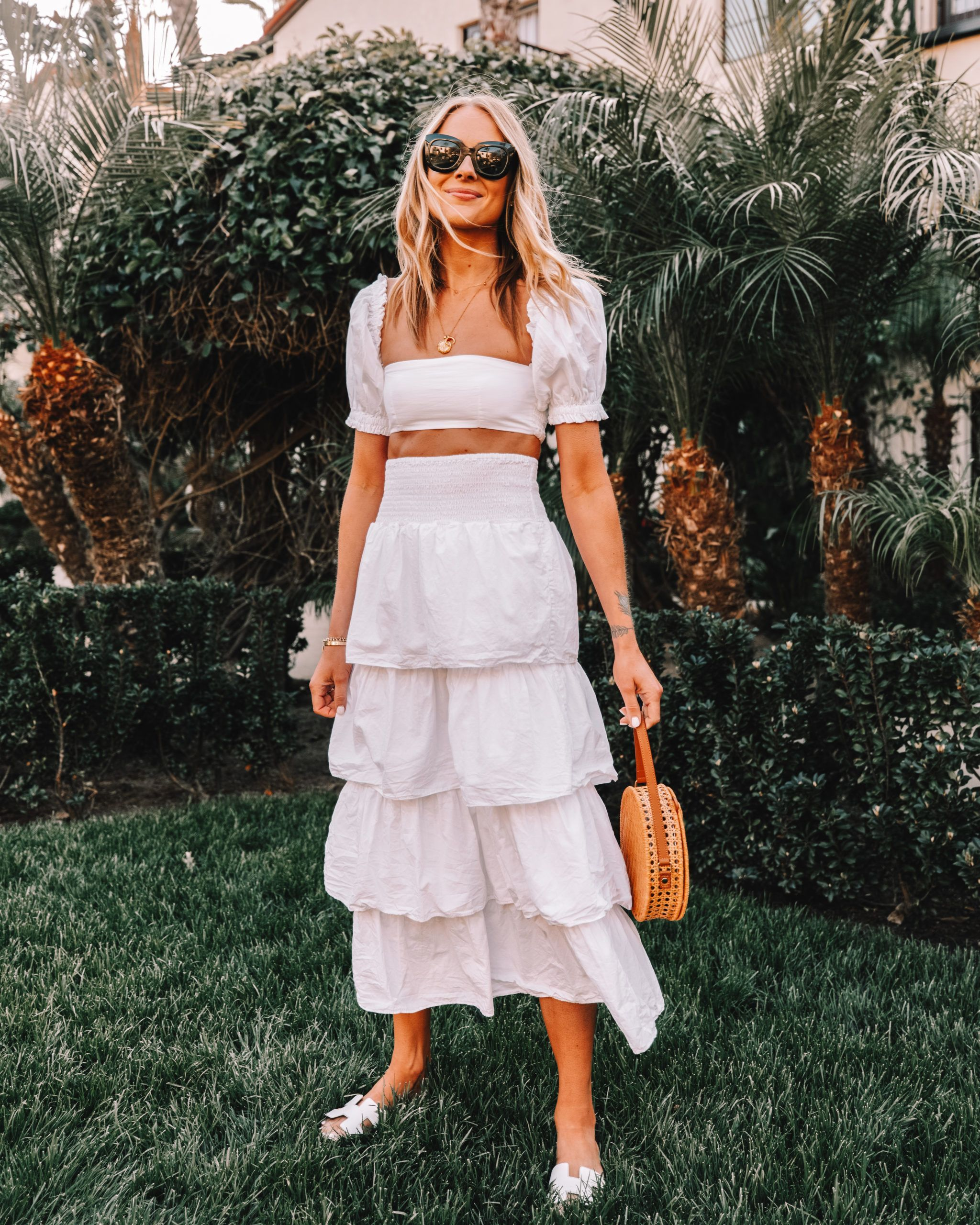 Outfit Piece Set Summer Vacation White Wore We Wore What White Two Piece Set Summer Outfit Sum Fashion Jackson Beach Outfit Women Summer Outfits Women [ 2560 x 2048 Pixel ]