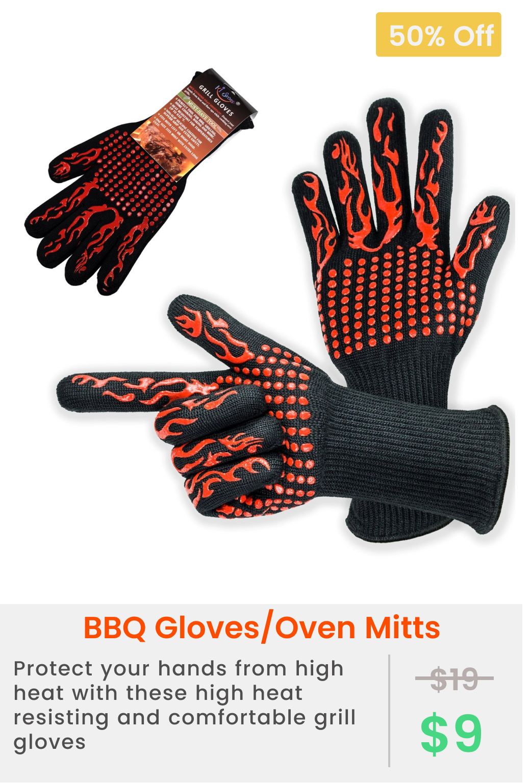Ki Store Bbq Gloves Extreme Heat Resistant 932 F Grill Gloves Long
