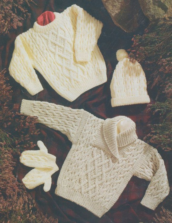 e8f010337 Instant PDF Download Vintage Row by Row Knitting Pattern to make ...