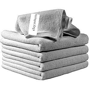 Clay Roberts Microfibre Cleaning Cloths 5 Pack Grey Microfibre Dusters Machine Washable Lint-Free Cupboard Pasta-Pulses Cupboard Spices-Seasonings Cupboard Minerals-Supplements Capsules Water Cupboard Supplies Mixes Flour-Mixes Supplies Tools Cloths-Wipes