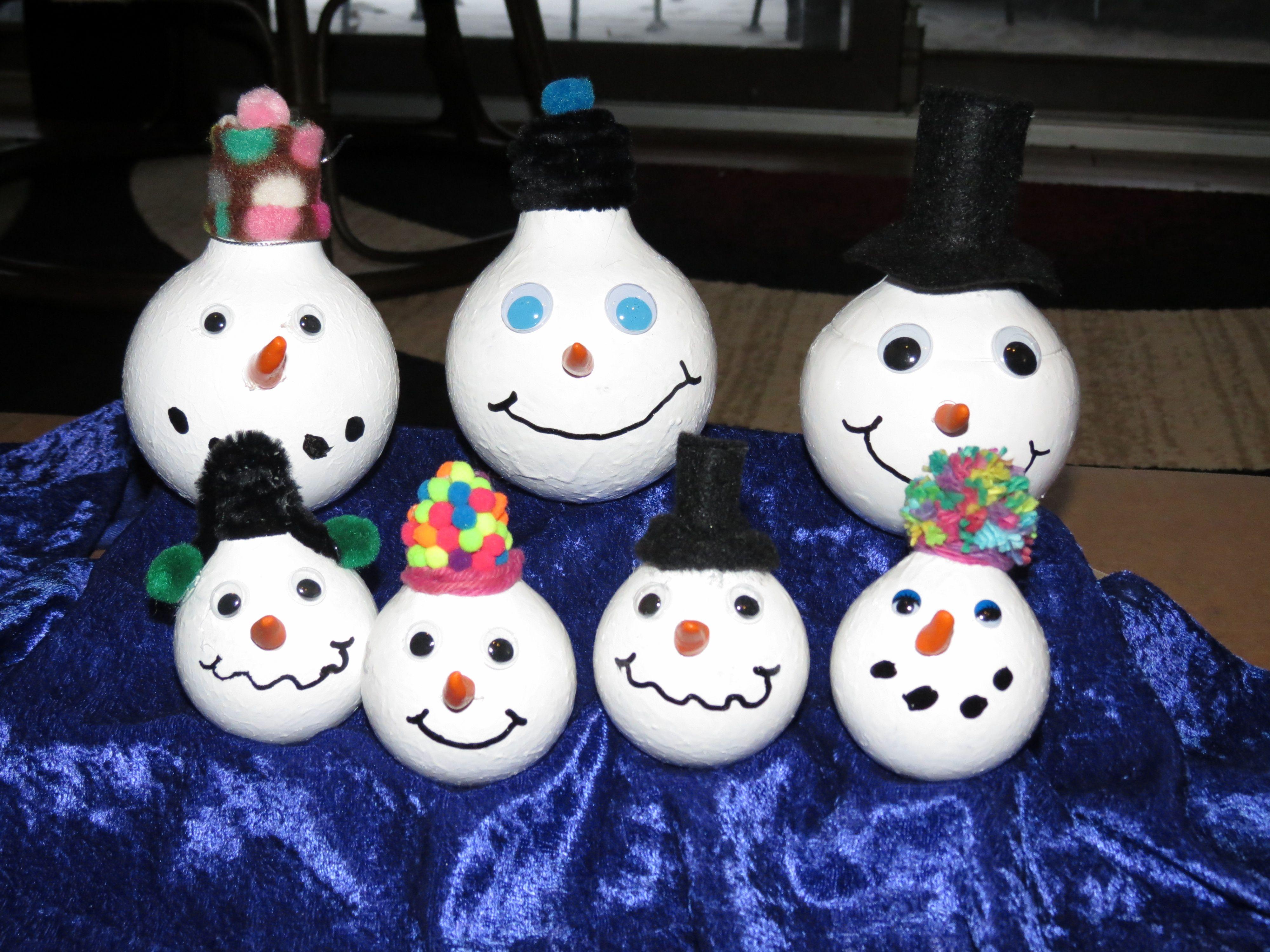 Snowmen Lightbulbs