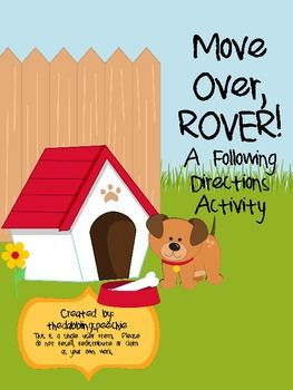 Move Over Rover Following Directions Activity Following