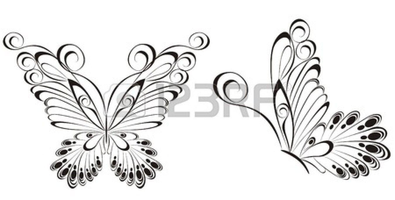 vecteur de papillons noir et blanc tatouage pinterest de papillon vecteur et banque. Black Bedroom Furniture Sets. Home Design Ideas