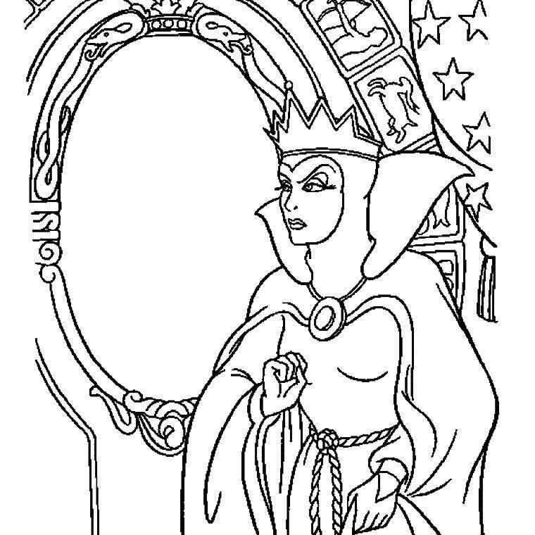 Coloriage Gratuit Blanche Neige.Coloriage Sorciere Blanche Neige Coloriage Personnages Disney