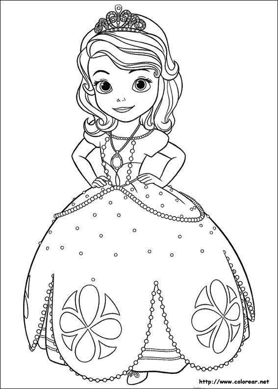 Dibujo De Para Imprimir Princesas Para Colorear Colorear Princesas Princesa Sofia Para Pintar