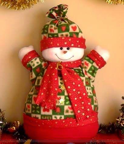 Feltro moldes artesanato em geral boneco de neve 1 peso for Hacer papa noel grande