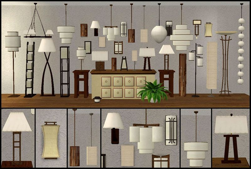 33 lamps seven different lamp collections ts2 objects With sims 2 floor lamp