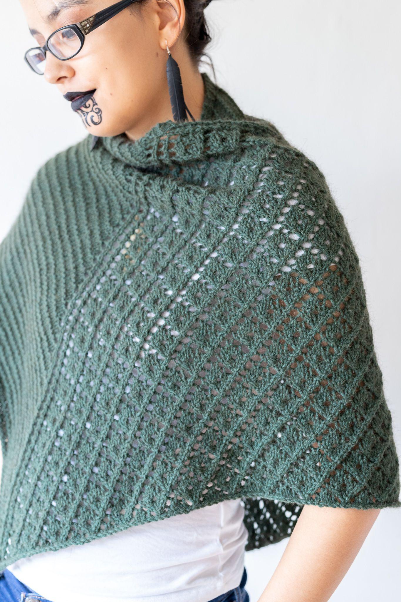 Kawakawa Shawl Knitting Pattern Knitting Patterns Knitting Fashion