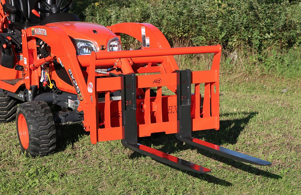 Kubota Bx 36 Quick Attach Pallet Forks Attachments Bxattachments Com Tractor Attachments Compact Tractor Attachments Kubota